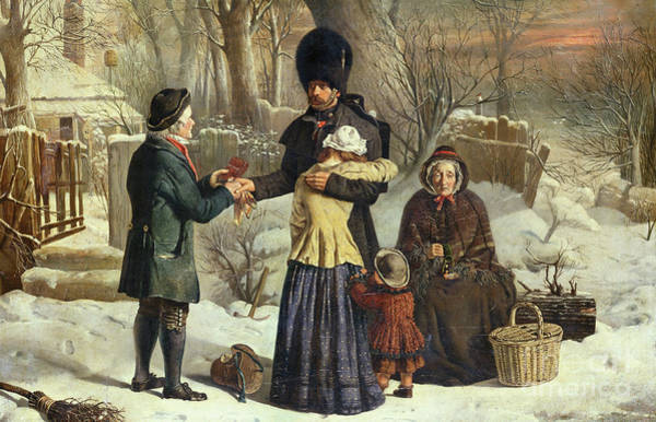 Wall Art - Painting - The Soldier's Farewell, The Parent's Gift  Leaving For The Crimea by George Housman Thomas