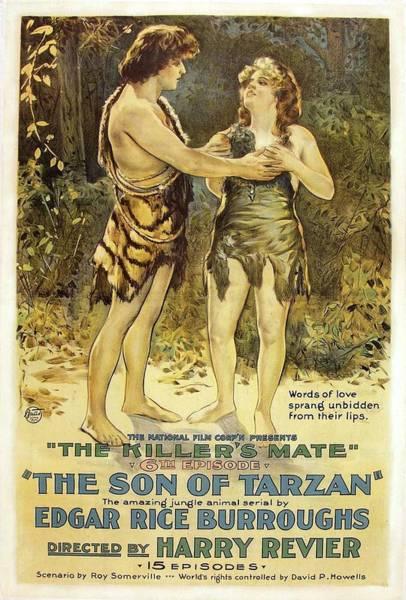Nostalgia Drawing - The Son Of Tarzan - The Killer's Mate 1921 by Mountain Dreams