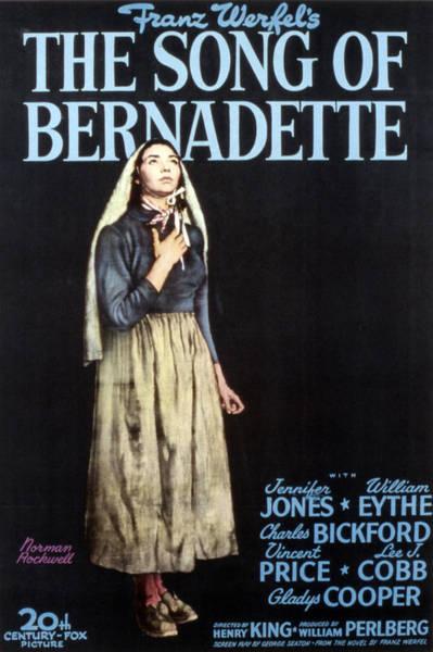 Bernadette Photograph - The Song Of Bernadette, Jennifer Jones by Everett