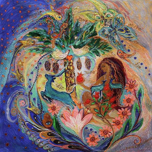 Wall Art - Painting - The Song Of Songs. Day by Elena Kotliarker