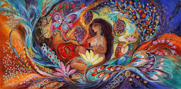 Wall Art - Painting - The Song Of Songs by Elena Kotliarker