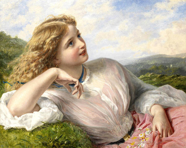 Meadow Lark Painting - The Song Of The Lark by Sophie Anderson