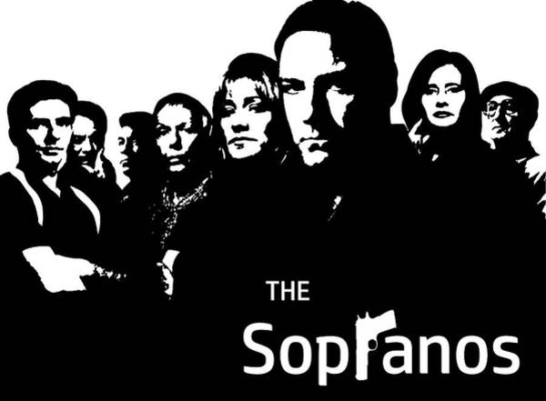 Wall Art - Digital Art - The Sopranos Poster by Dan Sproul