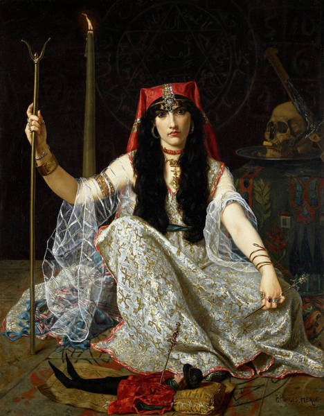 Wall Art - Painting - The Sorceress by Georges Merle