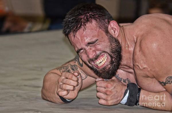 Pro Wrestler Wall Art - Photograph - The Soul Fighter Pro Wrestler Joe Graves Fighting On     by Jim Fitzpatrick