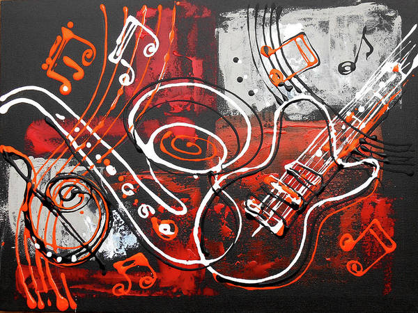 Wall Art - Painting - The Sound Of Music by Leon Zernitsky