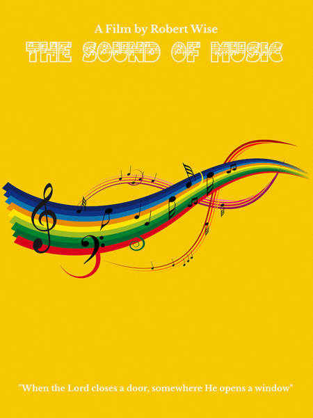 Painting - The Sound Of Music Minimalist Movie Poster  by Celestial Images