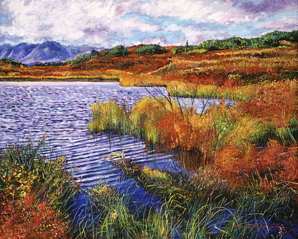 Marsh Grass Wall Art - Painting - The Sound Of Wind Across The Lake by David Lloyd Glover