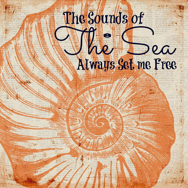 Words Digital Art - The Sounds Of The Sea Always Set Me Free by Brandi Fitzgerald