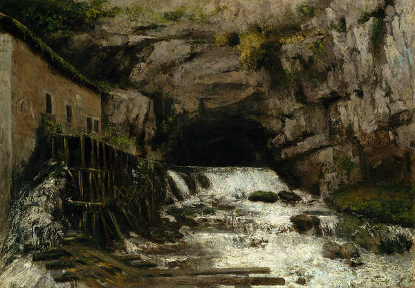 Painting - The Source Of The Loue, 1864 by Gustave Courbet