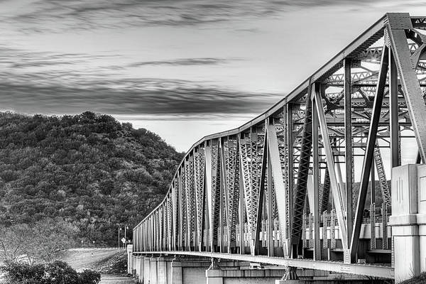 Wall Art - Photograph - The South Llano River Bridge Black And White by JC Findley