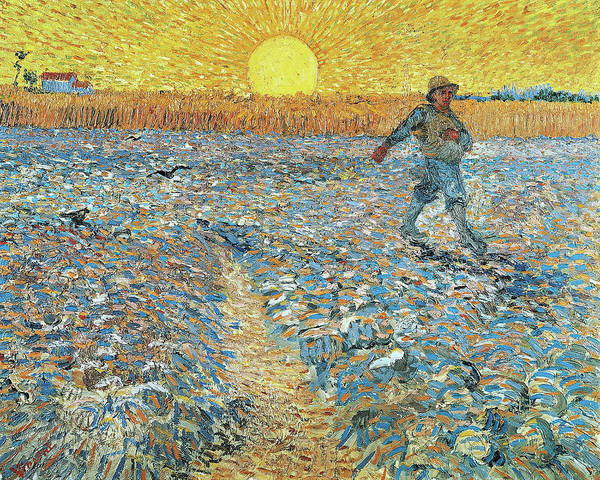 Wall Art - Painting - The Sower Van Gogh by Vincent Van Gogh