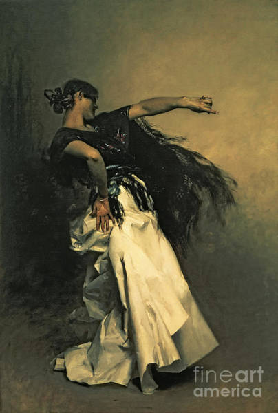 Dance Painting - The Spanish Dancer by John Singer Sargent