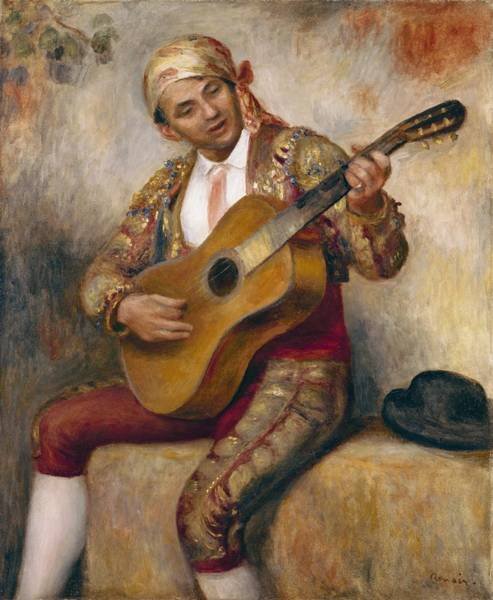 Renoir Wall Art - Painting - The Spanish Guitarist by Pierre Auguste Renoir
