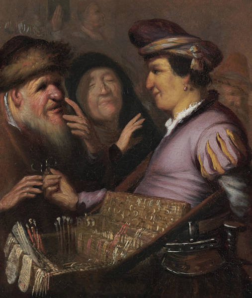 Painting - The Spectacle-pedlar  by Rembrandt