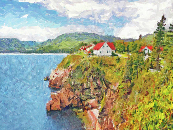 Digital Art - The Spectacular Keltic Lodge On Cape Breton Island by Digital Photographic Arts