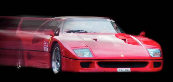 Auto Show Photograph - The Speed Of A Ferrari by Martin Newman