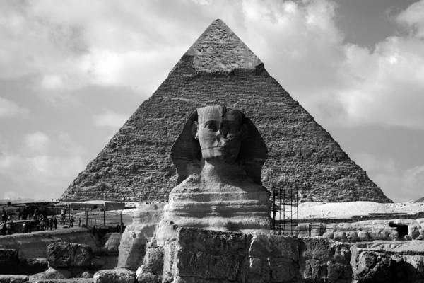Photograph - The Sphynx And The Pyramid by Donna Corless