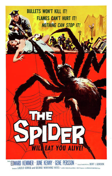 Horror Film Painting - The Spider, Horror Movie Poster by Long Shot