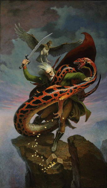 Sword And Sorcery Painting - The Spilling Of Coin by Jim Thiesen