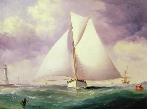 Spinnaker Wall Art - Painting - The Spinnaker Sail by Nicholas Matthews Condy