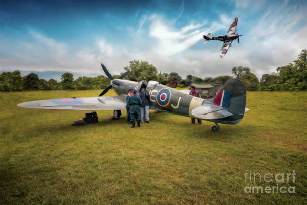 Supermarine Spitfire Photograph - The Spitfire Parade by Adrian Evans