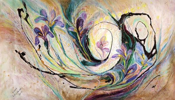 Wall Art - Painting - The Splash Of Life 19. Irises by Elena Kotliarker