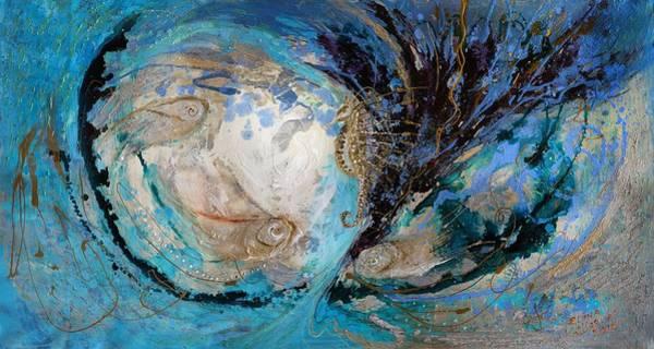 Wall Art - Painting - The Splash Of Life 22. The Sea Horse by Elena Kotliarker