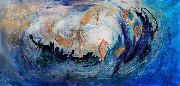 Wall Art - Painting - The Splash Of Life 24. The Sea Dance by Elena Kotliarker