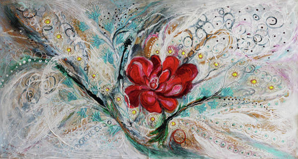 Wall Art - Painting - The Splash Of Life 28. Power Of Peony by Elena Kotliarker