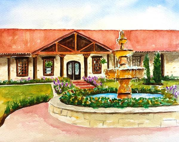 Houston Texas Painting - The Springs Houston by Carlin Blahnik CarlinArtWatercolor