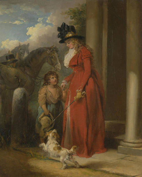 Wall Art - Painting - The Squire's Door by George Morland