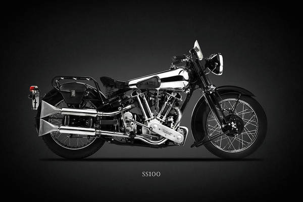 Superior Photograph - The Ss100 Vintage Motorcycle by Mark Rogan