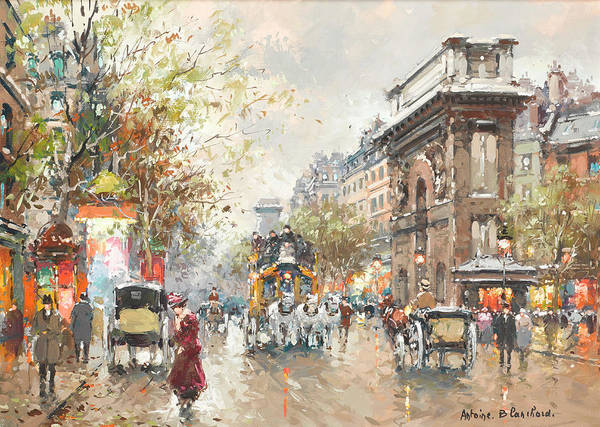 Wall Art - Painting - The St. Denis Gate by Antoine Blanchard