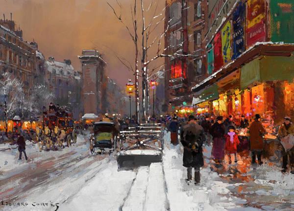 Avenue Painting - The St. Denis Gate by Edouard Henri Leon Cortes
