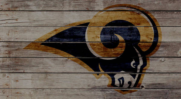 Wall Art - Mixed Media - The St Louis Rams 2w by Brian Reaves