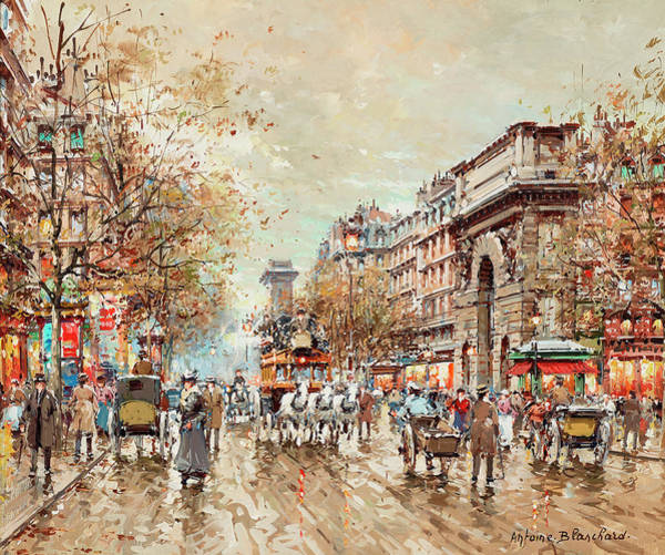 Wall Art - Painting - The St. Martin Gate, Paris by Antoine Blanchard