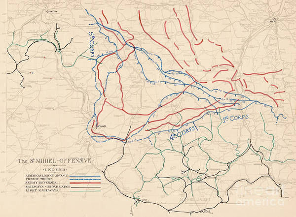 Wall Art - Painting - The St Mihiel Offensive, 1918 by English School