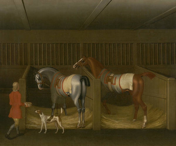 Bolton Wall Art - Painting - The Stables And Two Famous Running Horses Belonging To His Grace, The Duke Of Bolton by James Seymour