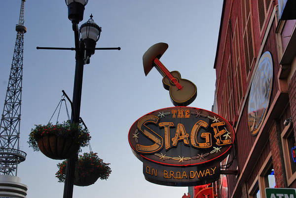 Photograph - The Stage Nashville by Susanne Van Hulst