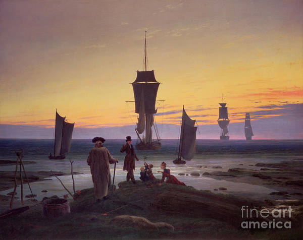 Crt Painting - The Stages Of Life by Caspar David Friedrich