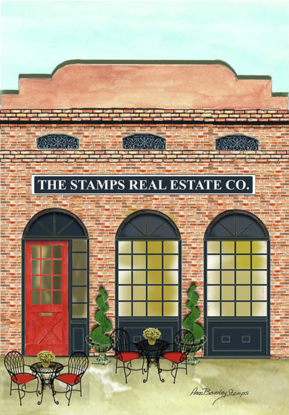 Painting - The Stamps Real Estate Co. by Anne Beverley-Stamps