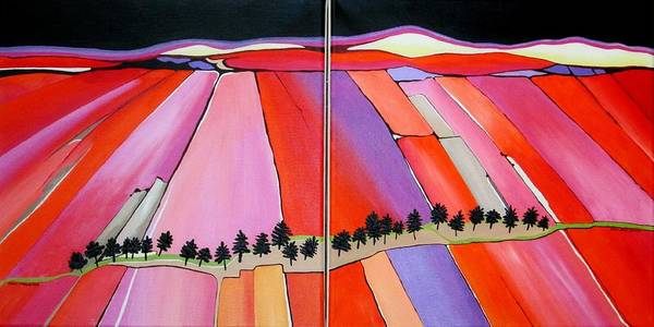 Wall Art - Painting - The Stand The Plains by Carol Sabo