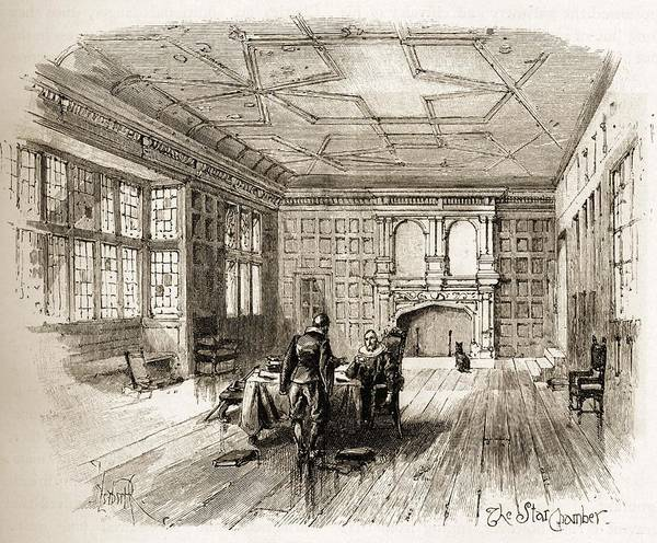 Royal Court Drawing - The Star Chamber Was An English Court by Vintage Design Pics