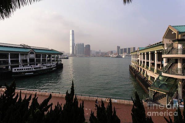 Photograph - The Star Ferry Pier In Central Hong Kong Island by Didier Marti