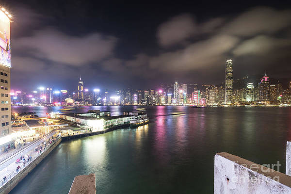 Photograph - The Star Ferry Terminal In Tsim Sha Tsui In Kowloon With The Hon by Didier Marti
