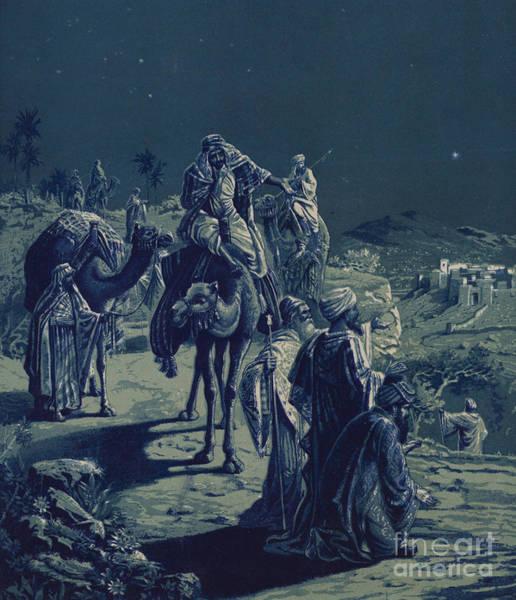 Three Kings Painting - The Star Of Bethlehem by English School