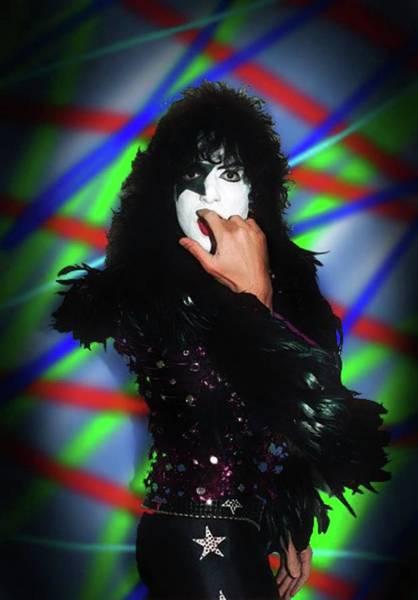 Frontman Wall Art - Digital Art - The Starchild Kiss by Sally Ayad