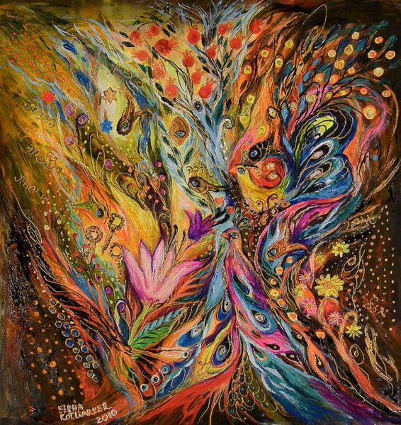 Wall Art - Painting - The Starfall by Elena Kotliarker