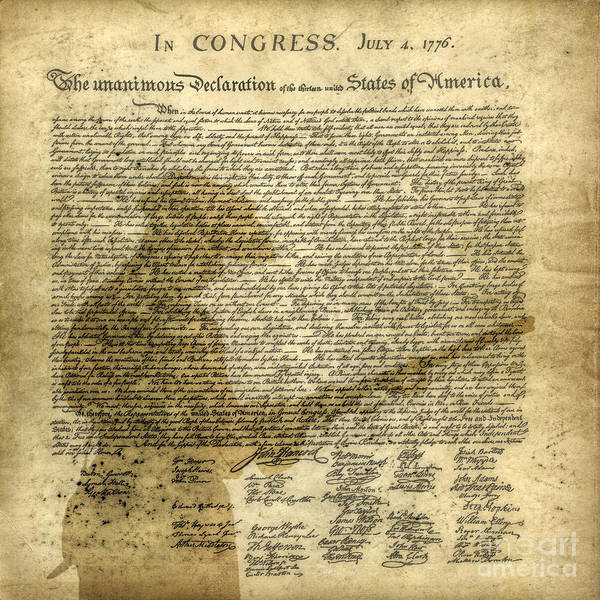 Declaration Of Independence Digital Art - The Start Of It All by Randy Steele